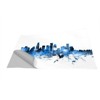 Los Angeles California Skyline Wall Mural by Americanflat