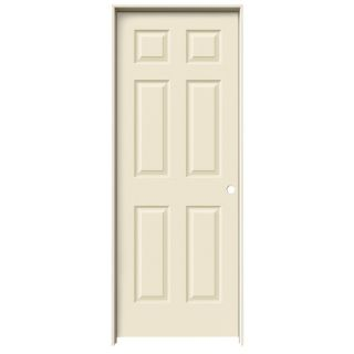 JELD WEN Cream N Sugar Prehung Hollow Core 6 Panel Interior Door (Actual: 81.688 in x 29.562 in)