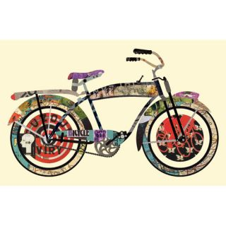 Vintage Bicycle Collage Framed Graphic Art by Edge Home