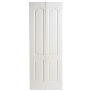 Masonite Hollow Core 2 Panel Arch Top Bi Fold Closet Interior Door (Common: 30 in x 80 in; Actual: 29.5 in x 79 in)