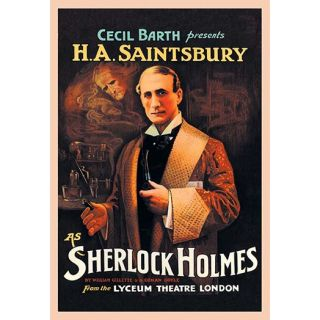 Buyenlarge H. A. Saintsbury as Sherlock Holmes Vintage Advertisement
