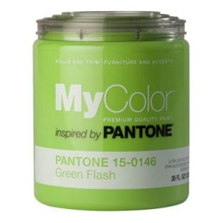 MyColor inspired by PANTONE 15 0146 35 oz. Eggshell Green Flash Self Priming Paint DISCONTINUED 18008
