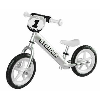 Strider 12 Pro No Pedal Balance Bike   Silver    Strider Sports