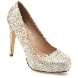 De Blossom Collection Womens Summer 33 Glitter Slip on Classic
