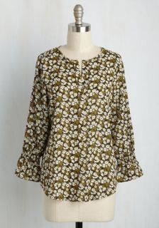 BYO Bliss Floral Top  Mod Retro Vintage Short Sleeve Shirts