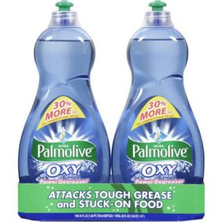 Palmolive Ultra Dish Liquid, Oxy Plus Power Degreaser, 25 Fluid Ounce (Pack of 2)