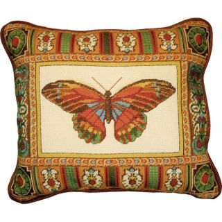 MCG Textiles Butterfly With Mosaic Border Needlepoint Kit   13851990