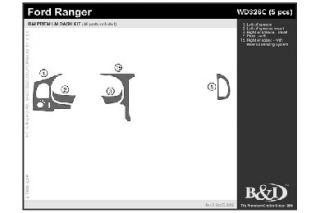 2000 Ford Ranger Wood Dash Kits   B&I WD326C DCF   B&I Dash Kits