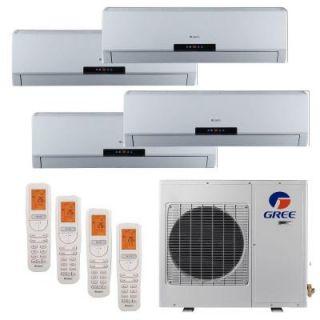 GREE Multi 21 Zone 36,000 BTU 3.0 Ton Ductless Mini Split Air Conditioner with Heat, Inverter, Remote   208 230 Volt/60Hz MULTI36HP400