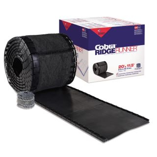 GAF Cobra 13.4 in x 240 in Black Plastic Roll Roof Ridge Vent