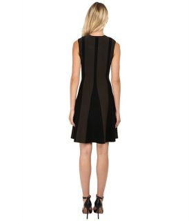 Neil Barrett Flared Bicolour Dress Military/Black
