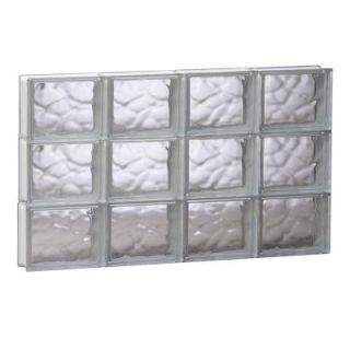 Clearly Secure 31 in. x 17.25 in. x 3.125 in. Wave Pattern Solid Glass Block Window 3218SDC