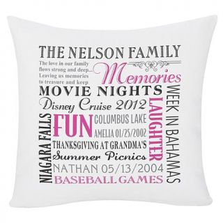 "Personal Creations Personalized ""Remember When"" Family Pillow   7703815"