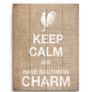 Click Wall Art Keep Calm and Have Southern Charm Textual Art Plaque