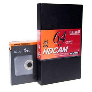 Maxell B 64HDL 64 Minute HDCAM Videotape, Large 292840