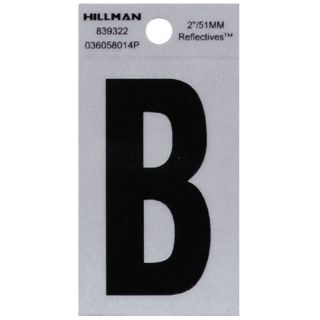 Hillman Sign Center 2 in Black and Silver House Letter B