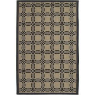 Five Seasons Black and Cream Retro Clover Rug (710 x 109)   15730744