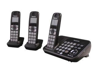 Panasonic KX TG4743B 1.9 GHz Digital DECT 6.0 3X Handsets Cordless Phones Integrated Answering Machine