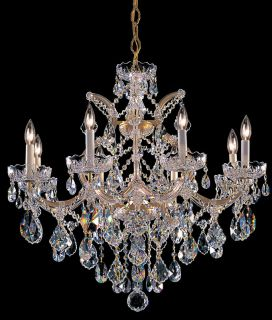Crystorama Lighting Group 4409 GD CL MWP Gold Chandelier