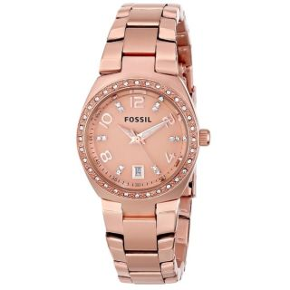 Fossil Womens AM4508 Serena Rose Goldtone Stainless Steel Watch
