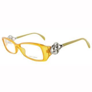 Giorgio Armani Womens GA 720 A5F Fire Yellow Rectangle Plastic