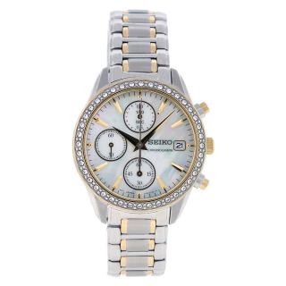 Seiko Womens Austrian Crystal Two tone Bracelet SNDY20 Watch