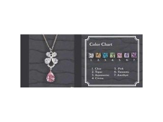 Beverly Clark 56 2251/PNK Silver Flower Chain With Pink Drop Pendant